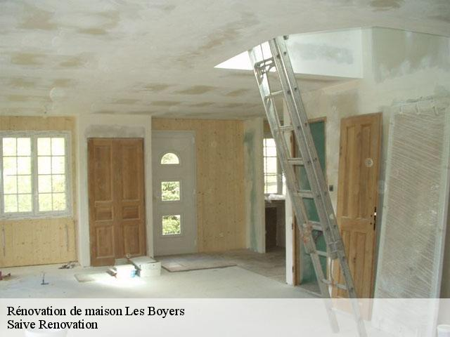 Rénovation de maison  les-boyers-13720