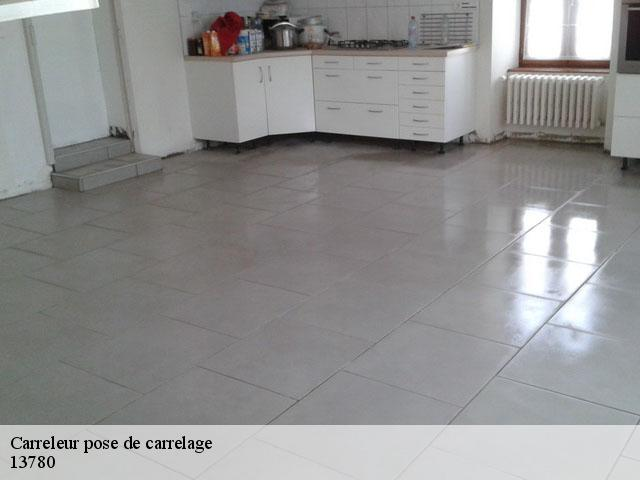 Pose de carrelage  13780